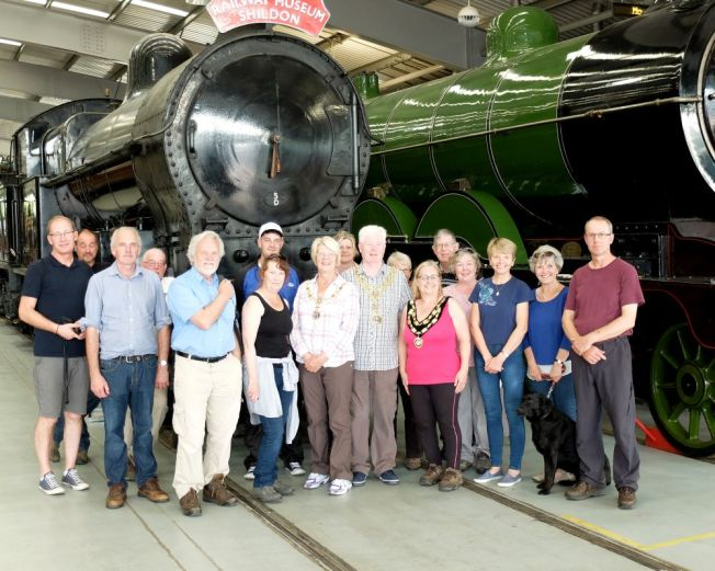 End of the walk - The group at Locomotion, Shildon.